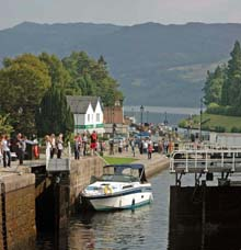The Caledonian Cana at Fort Augustus