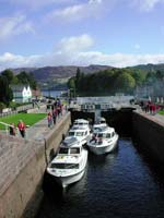 och gates on the Caledonian canal at Fort Augustus